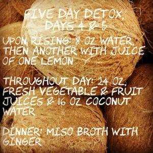 Detox Days 4 & 5